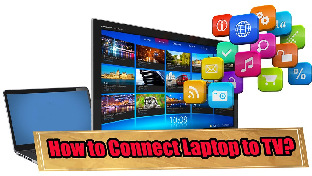 how to connect screen to laptop