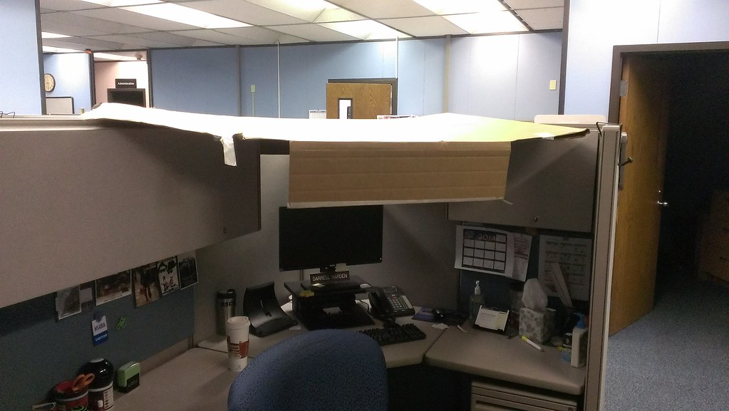 Kalamazoo Michigan Cubicle Roof Two Of My Co Workers