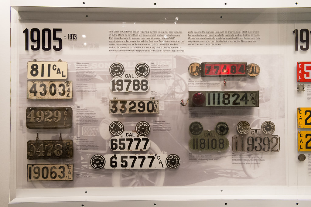 California License Plates 1905-1913   The State of ...