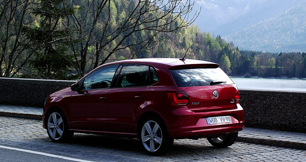 vw polo v 1 4 tdi 66 kw 90 ps highline sunset red metallic flickr. Black Bedroom Furniture Sets. Home Design Ideas