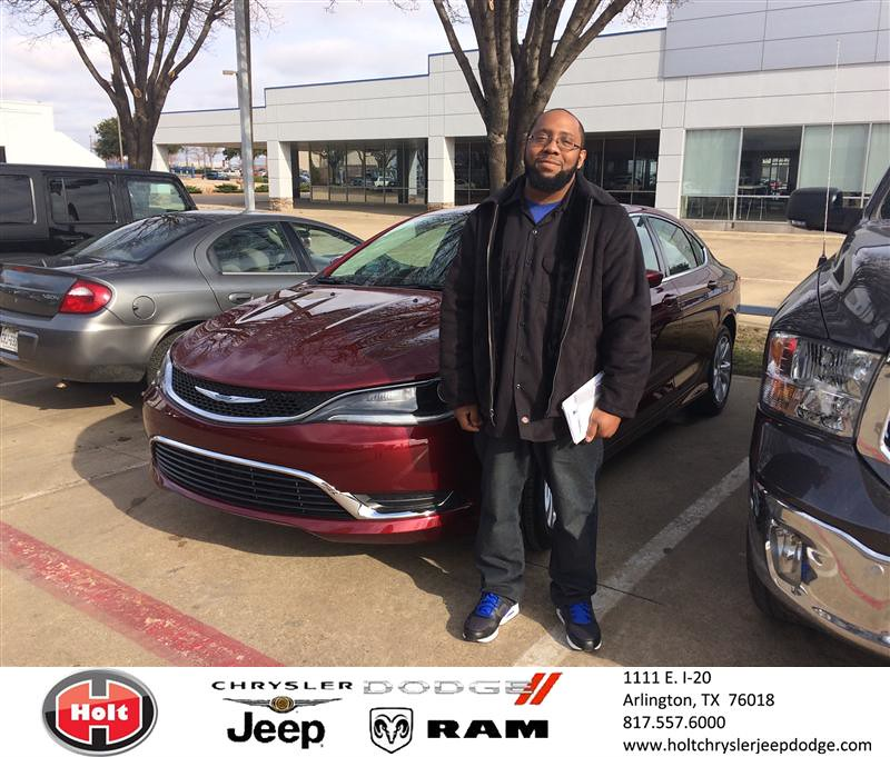Congratulations To Tyrus Fields On Your #Chrysler #200 Pur