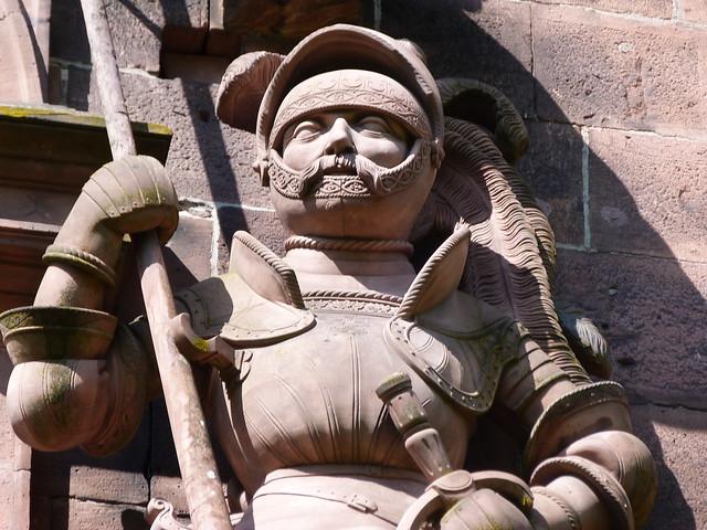 Detalle del castillo de Heidelberg (Alemania)