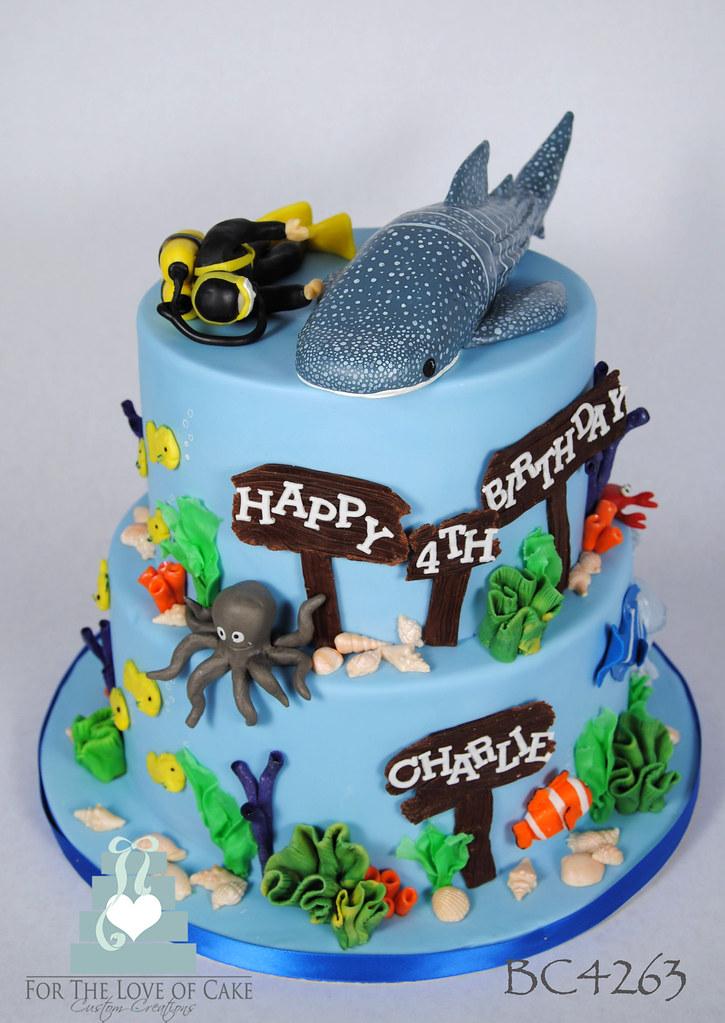 Shark Birthday Cake Topper