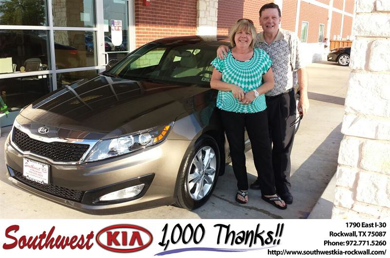 Thank You To Roy Pelham On The 2013 Kia Optima From Mauric