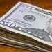 Stack of $50 Bills