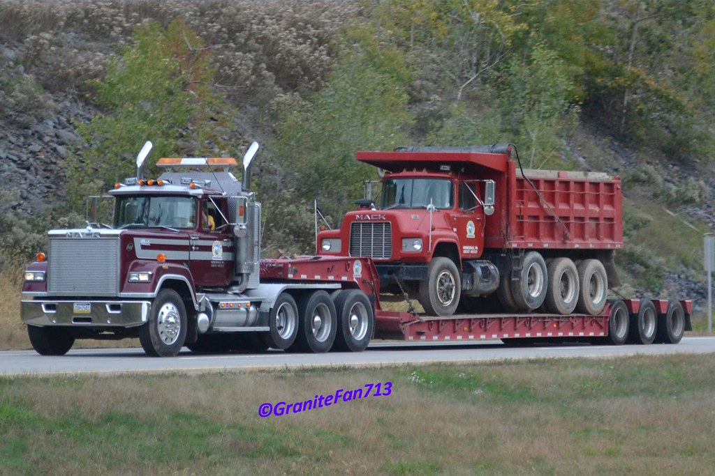 Mack Superliner Lowboy Tractor Trucks Buses Amp Trains