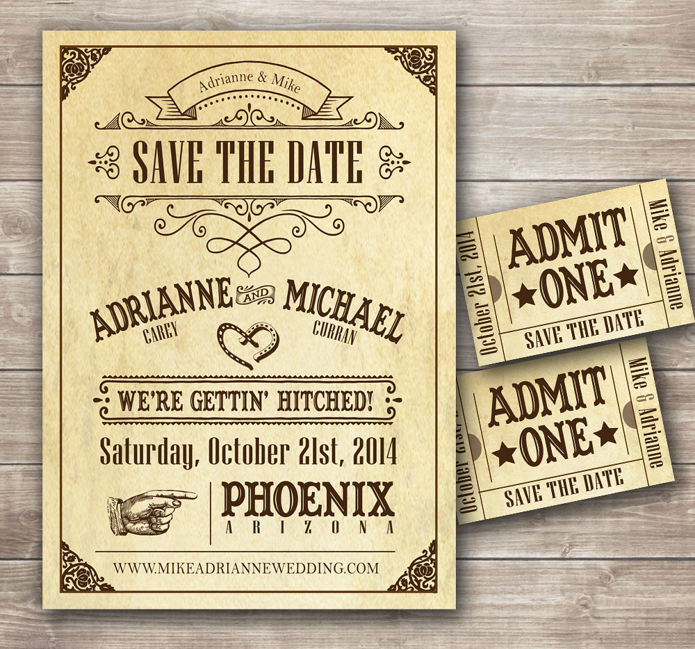 Country Western Wedding Invitation Country Western