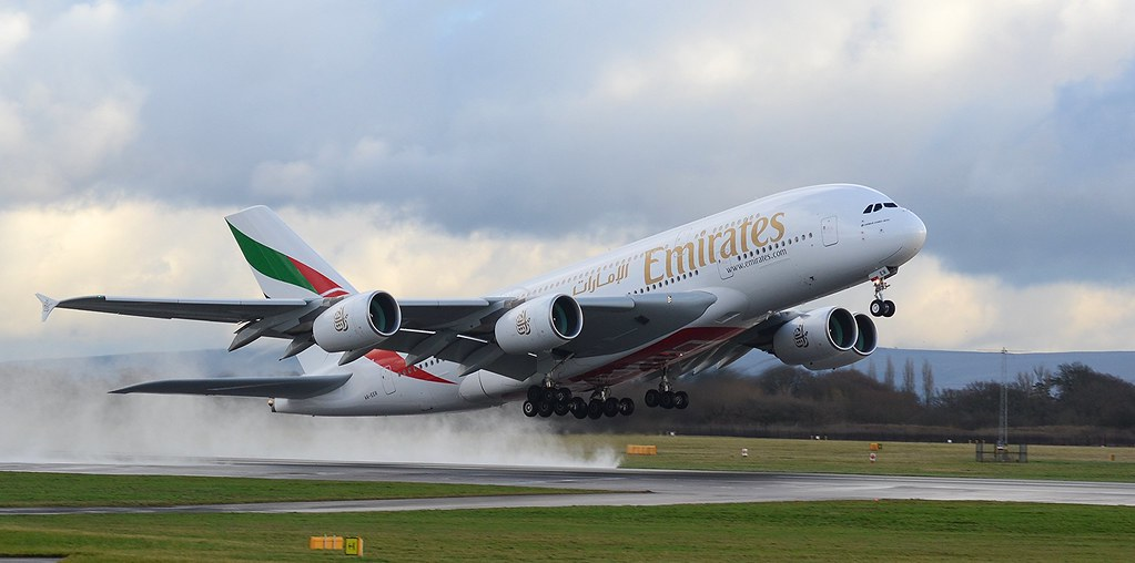 emirates airways airbus a380 a6 eer take off mancheste martin langran flickr. Black Bedroom Furniture Sets. Home Design Ideas