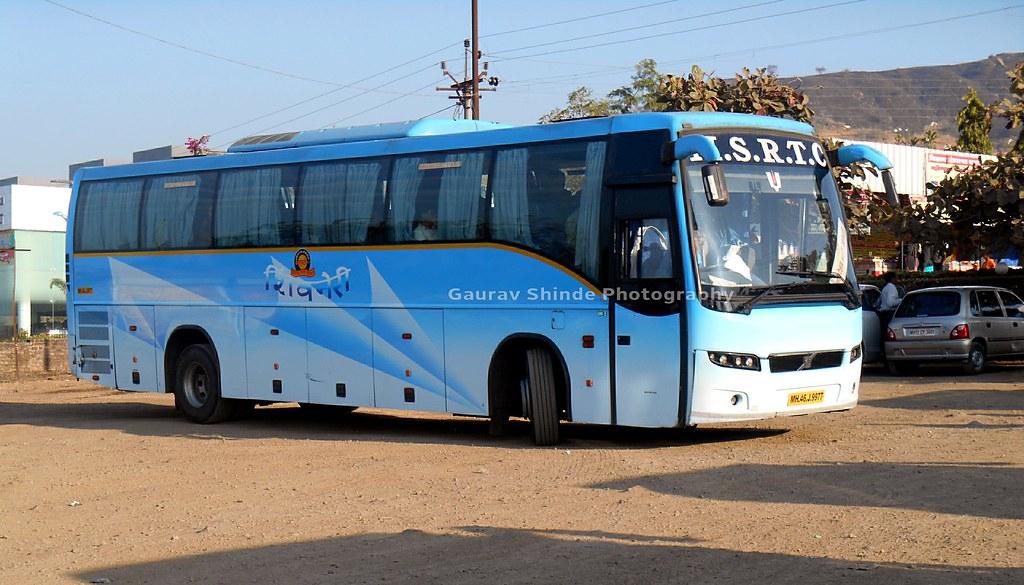 Msrtc Shivneri Volvo Bus At Hotel Milestone Satara Flickr