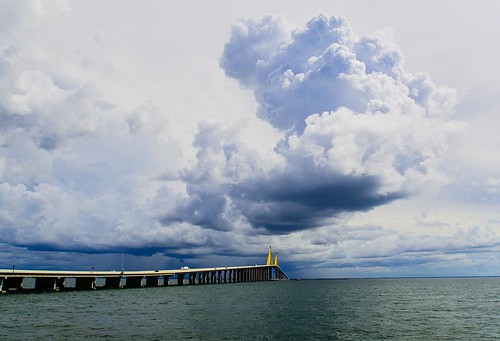 Watching dark storm move across Sunshine Skyway Bridge - 2:06:06 hrs.