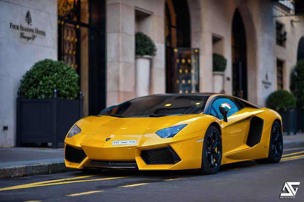Lambo Lamborghini Aventador Lp700 4 Paris France Hdr