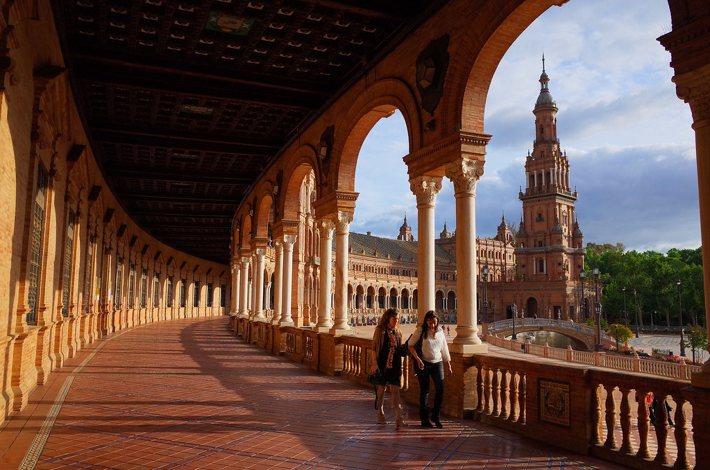 Sunset at Plaza de España [Explored]  Seville, Spain 2014 R…  Flickr