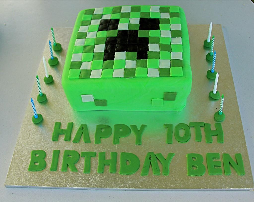 Minecraft Cake Without Fondant