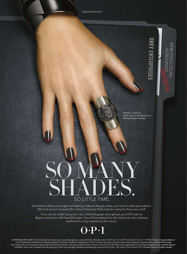 Dakota Johnson Life HQ Poster Ads From Nail Polish Collection By