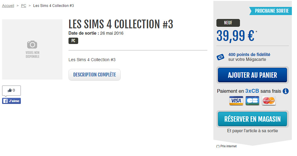 Micromania lista Los Sims 4 Coleccion 3