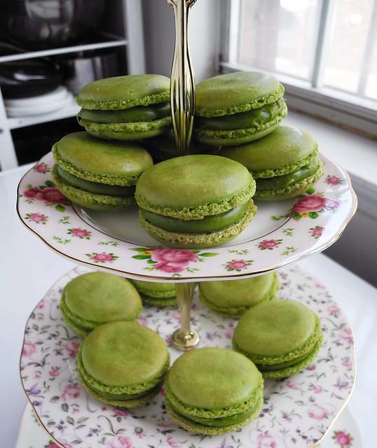 Green Tea Macarons with Matcha Ganache | Matcha ganache was ...