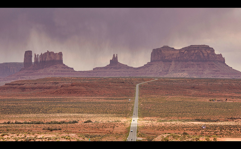 Monument Valley In A Storm Looking South From Route 163