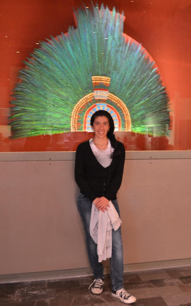Quetzal Mayan Symbol Headdress of Moctezuma...