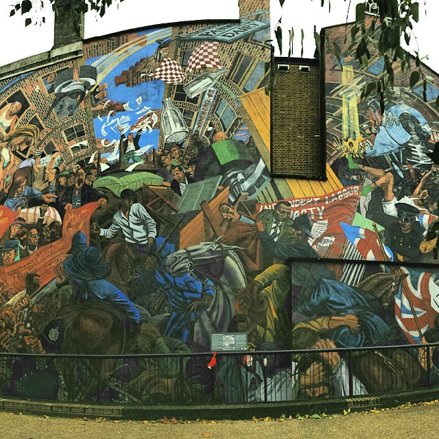 The battle of cable street mural on 4th october 1936 the for Cable street mural