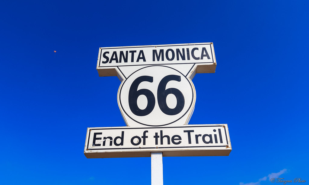 Route 66 End Of The Trail Santa Monica Los Angeles Cali
