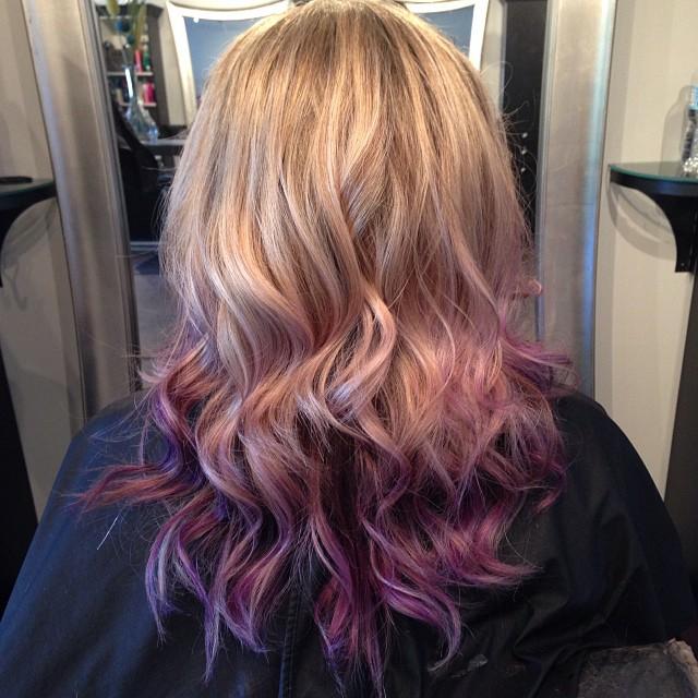 Purple Ombre Pravana Vivids Hair Blonde Love