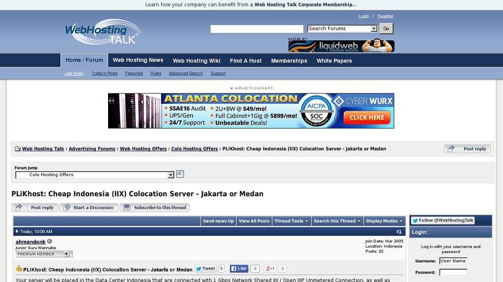 Dedicated server blog b m