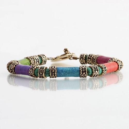 Kiahdesign Paper Bead Bracelet