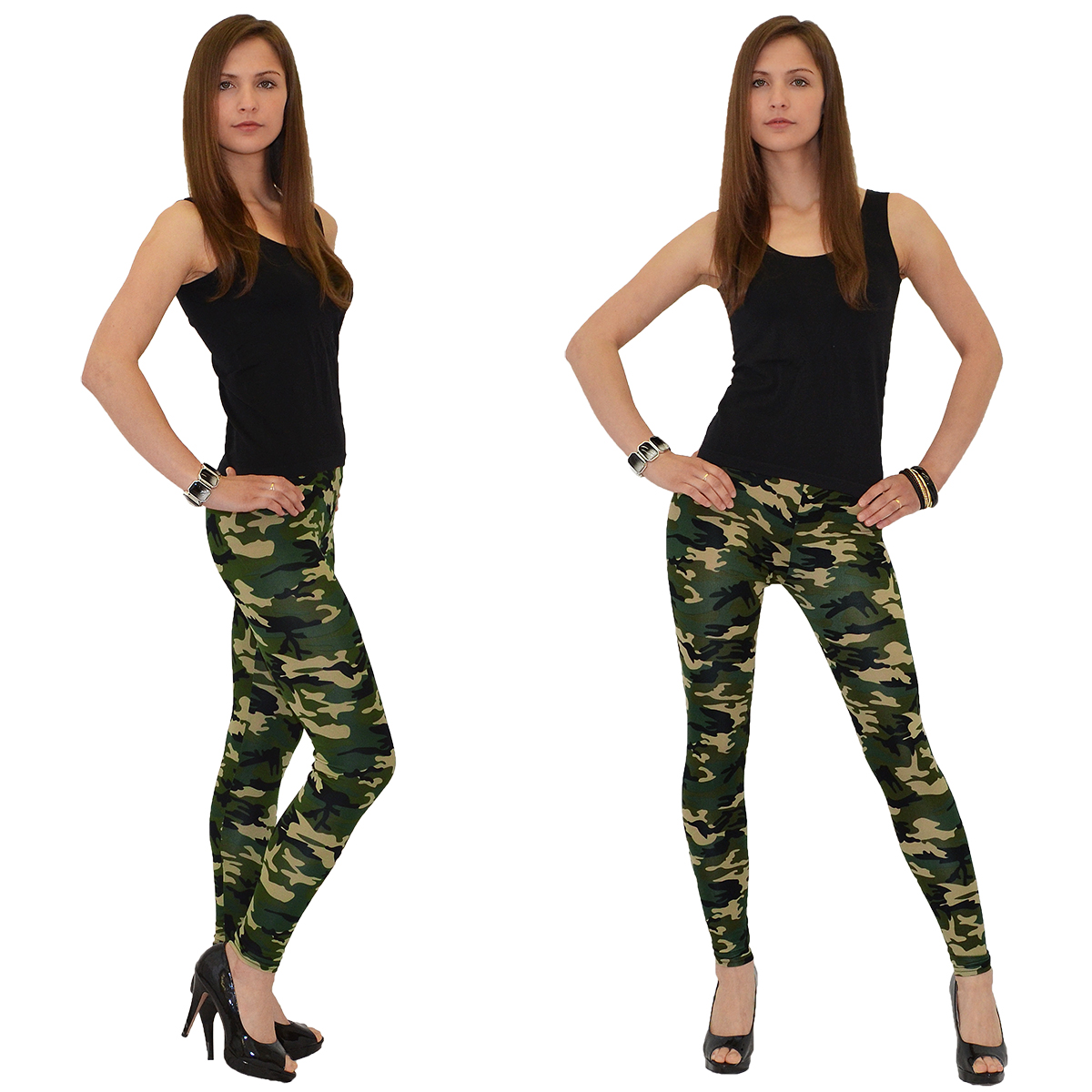 damen leggings leggins legging hose army look leging camouflage military l12 ebay. Black Bedroom Furniture Sets. Home Design Ideas