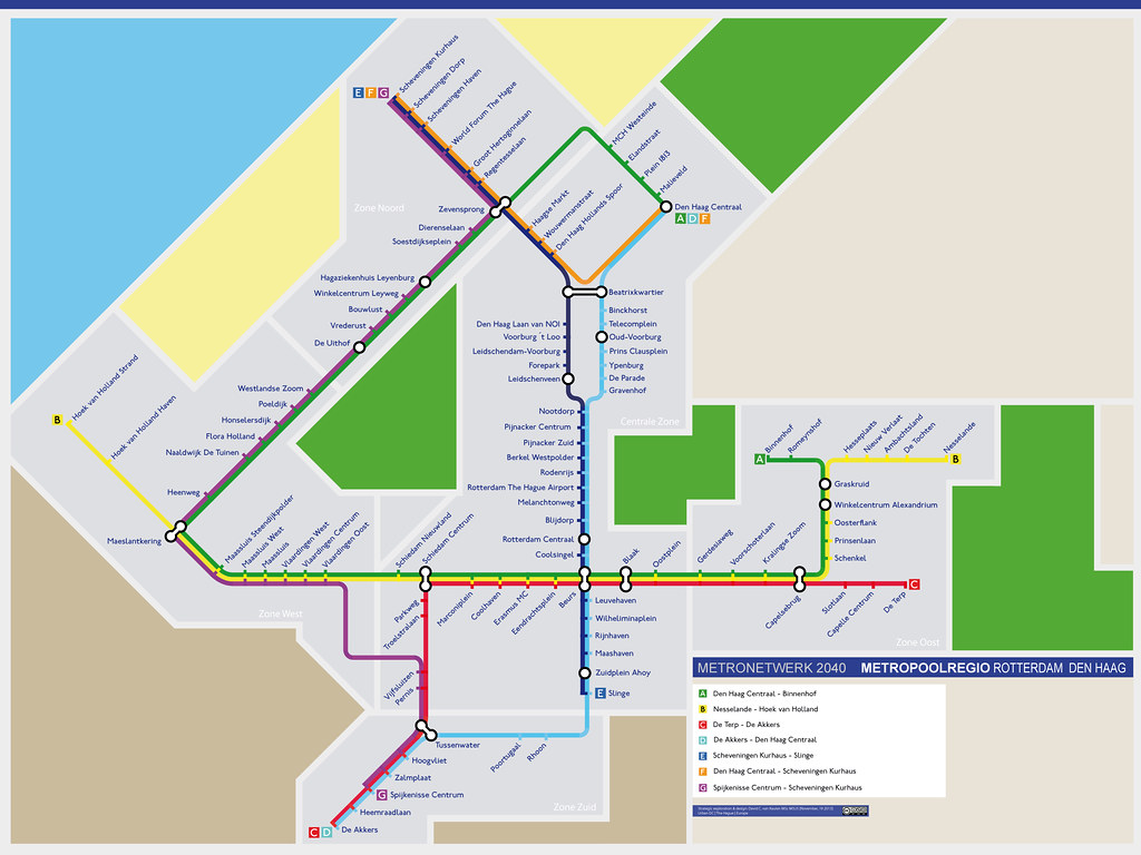 Metro Network 2040 > Map of Metropolitan region Rotterdam ...