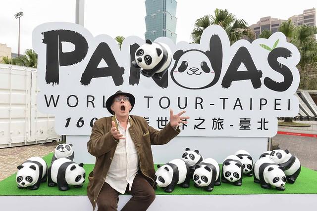 紙貓熊創作者Paulo受邀來台參與開幕活動