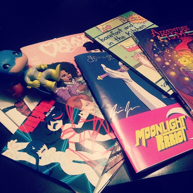 Mini-haul from Staple Expo and Austin Books and Comics! I couldn't resist getting Rat Queens (even though I've been waiting for the trade), and I love the Sailor Moon art zine!