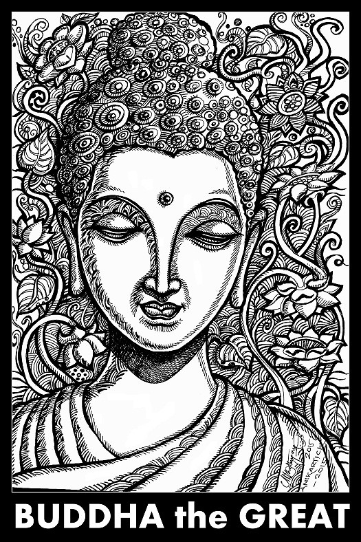 buddha illustration buddha drawing art illustration pen drawing crea 1178