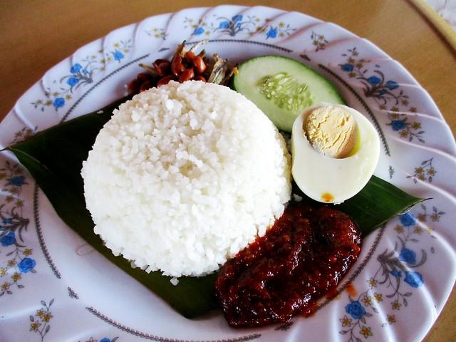 Lontong Cafe nasi lemak daun pisang
