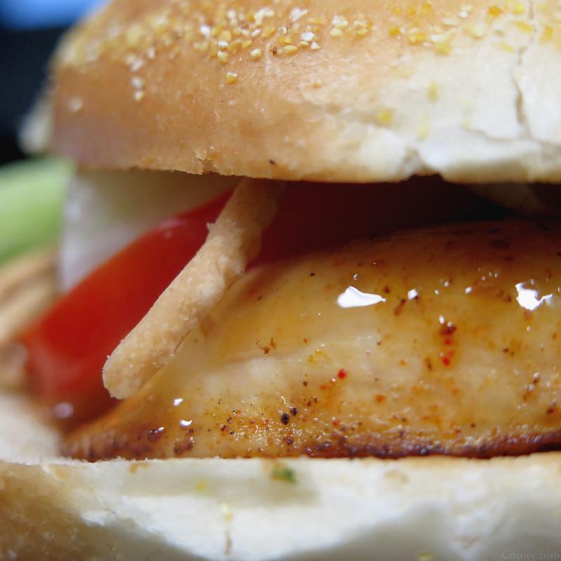 Cajun Asian chicken sandwich