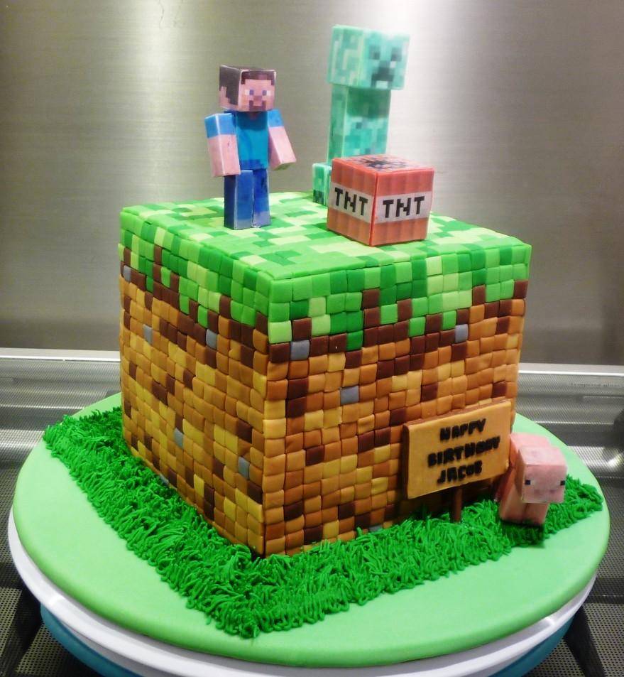 Minecraft Birthday Cake For Girls