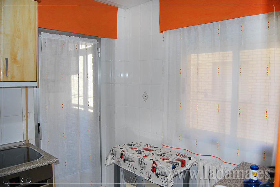 Cortinas de cocina naranjas con bando visita nuestra web for Cortinas naranjas