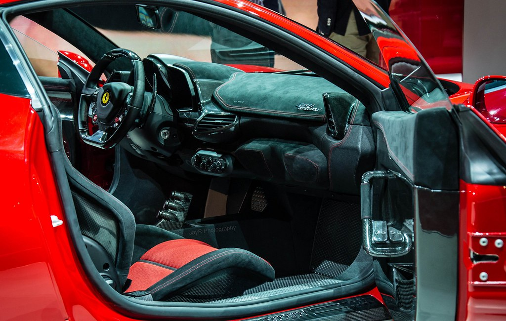 Ferrari 458 Speciale Interior Stripped Down For Weight