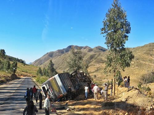 Bus crash in Bolivia