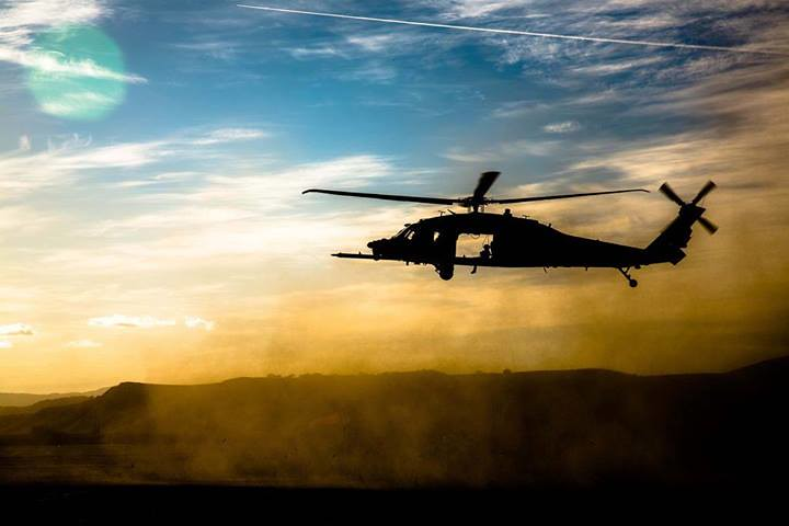 Air Support An Mh 60 Black Hawk With The 160th Special