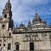 Chevet de la cathédrale de St Jacques de Compostelle, province de La Corogne, Galice, Espagne.