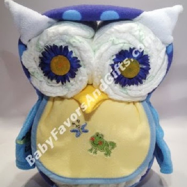 Cool Baby Boy Gift Ideas : Owl diaper cake for boy unique baby shower gift ideas fro