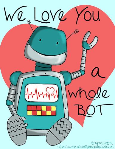 robot card blue wb