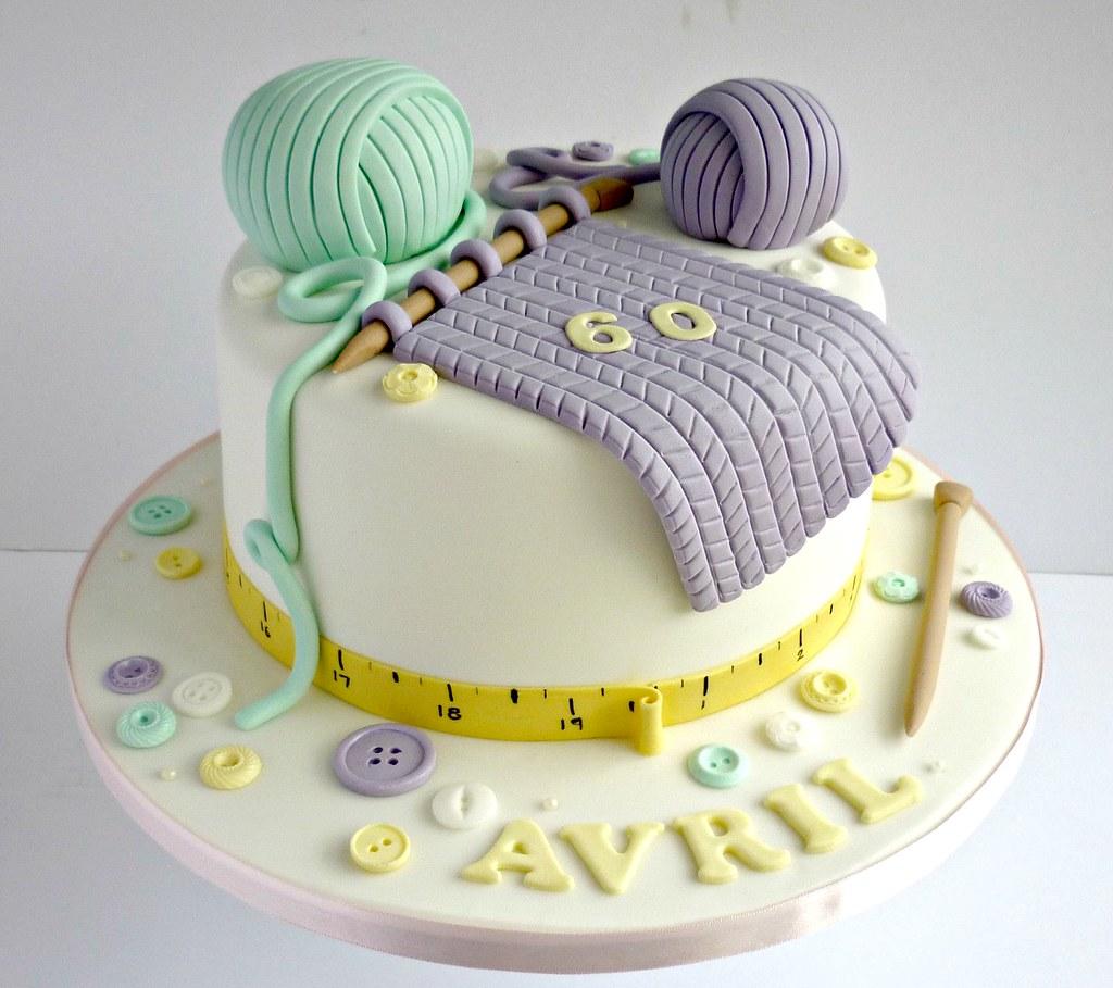 Knitting Cake Designs : Knitting themed birthday cake swirlsbakery flickr