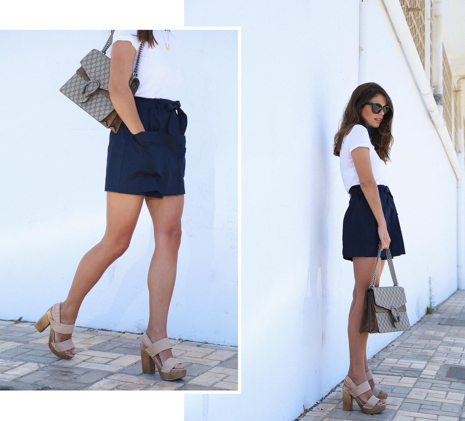 jessie chanes seams for a desire blue skort white tshirt wooden wedges sandals-1