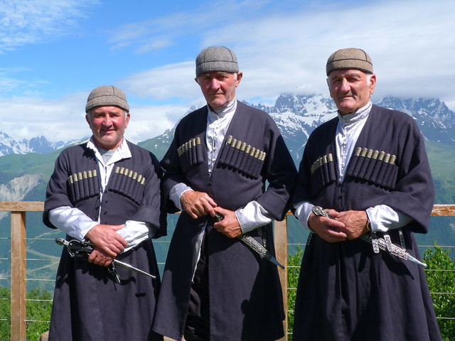 Georgianos en Svaneti