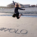 #YOLO jump in the sand