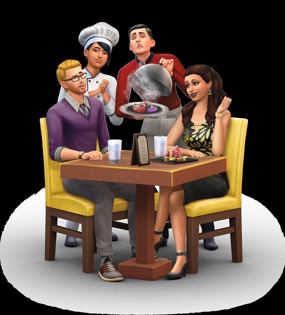 Restaurantes en Los Sims 4