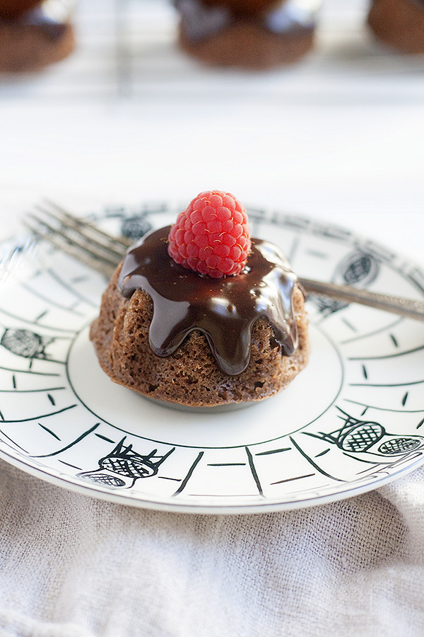 mini chocolate earl grey bundt cakes