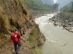 Following the river Buri Gandaki