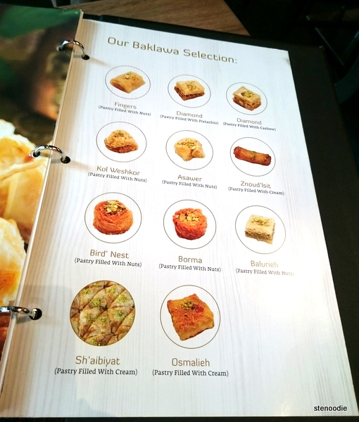 Baklava selection at Paramount Fine Foods
